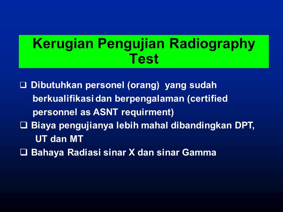 Kerugian Pengujian Radiography Test