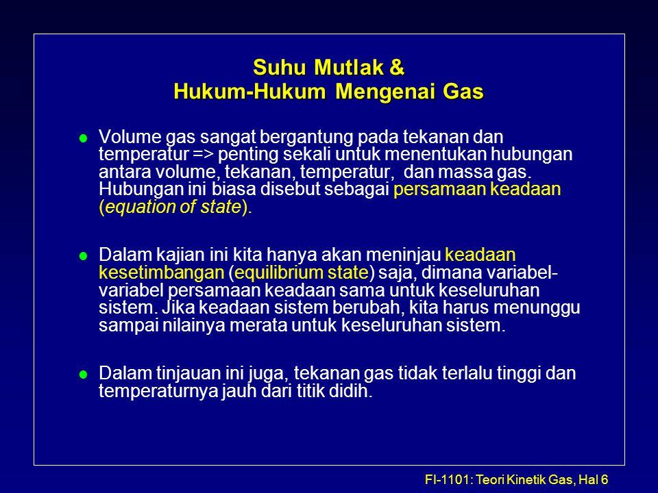 Suhu Mutlak & Hukum-Hukum Mengenai Gas