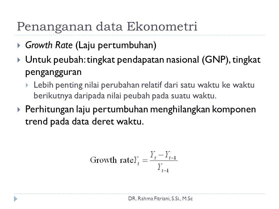 Penanganan data Ekonometri