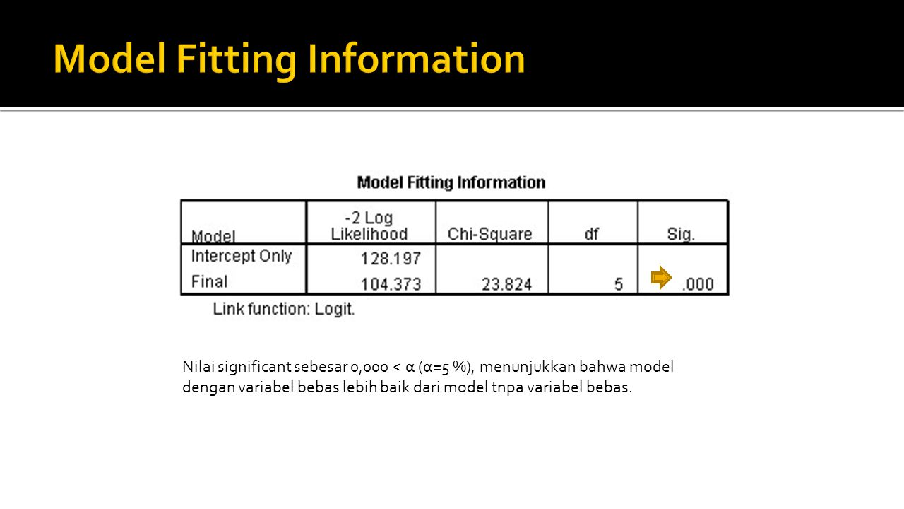 Model Fitting Information