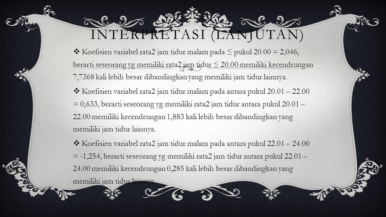 Interpretasi (lanjutan)