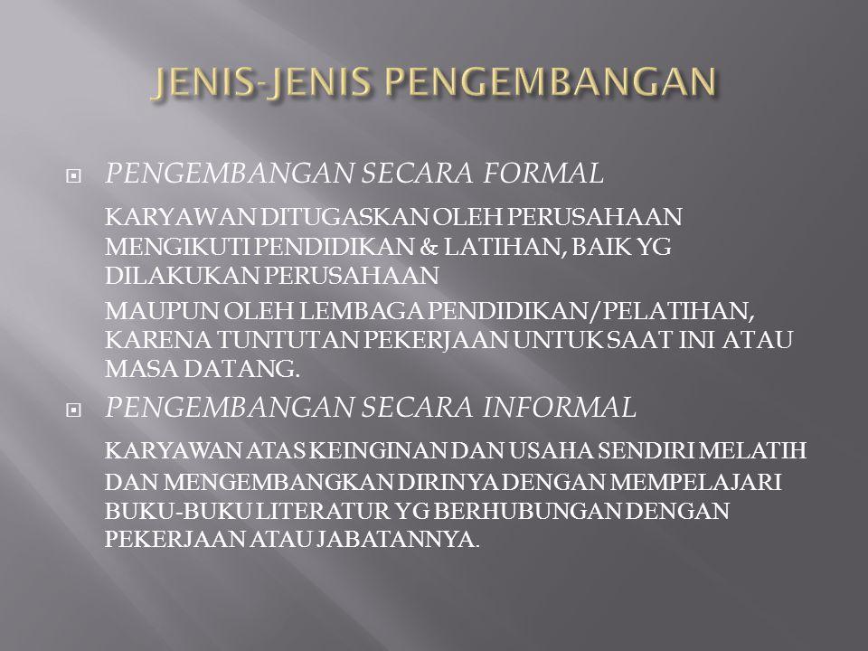 JENIS-JENIS PENGEMBANGAN