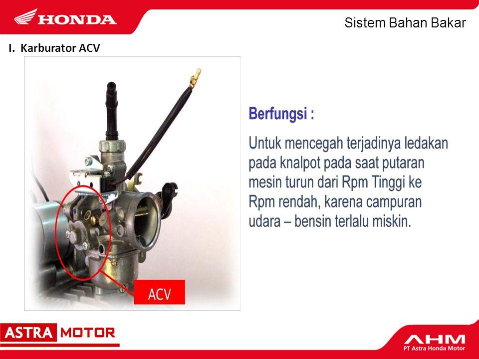 Sistem Bahan Bakar I. Karburator ACV