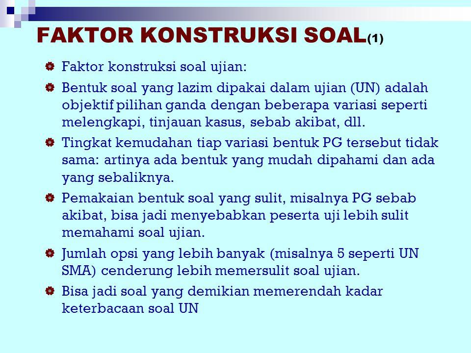 Faktor KONSTRUKSI SOAL(1)