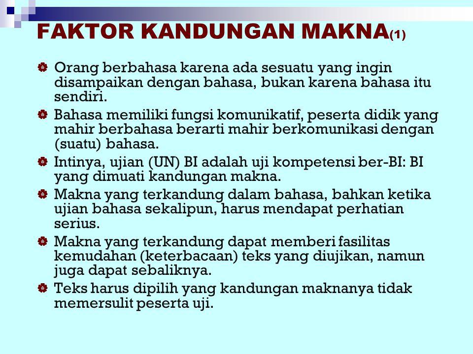 FAKTOR KANDUNGAN MAKNA(1)