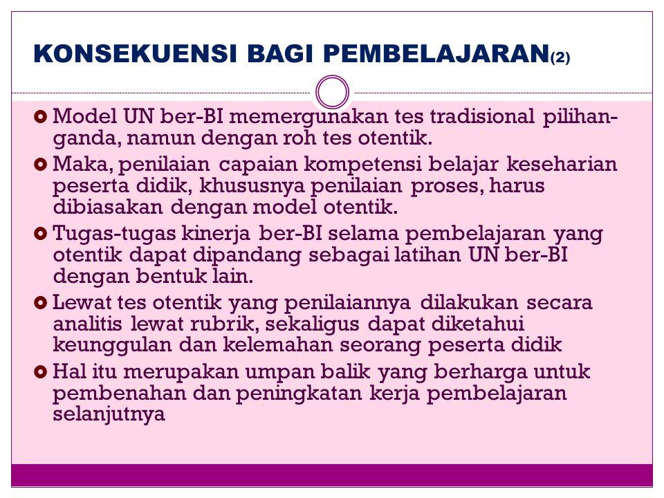 KONSEKUENSI BAGI PEMBELAJARAN(2)