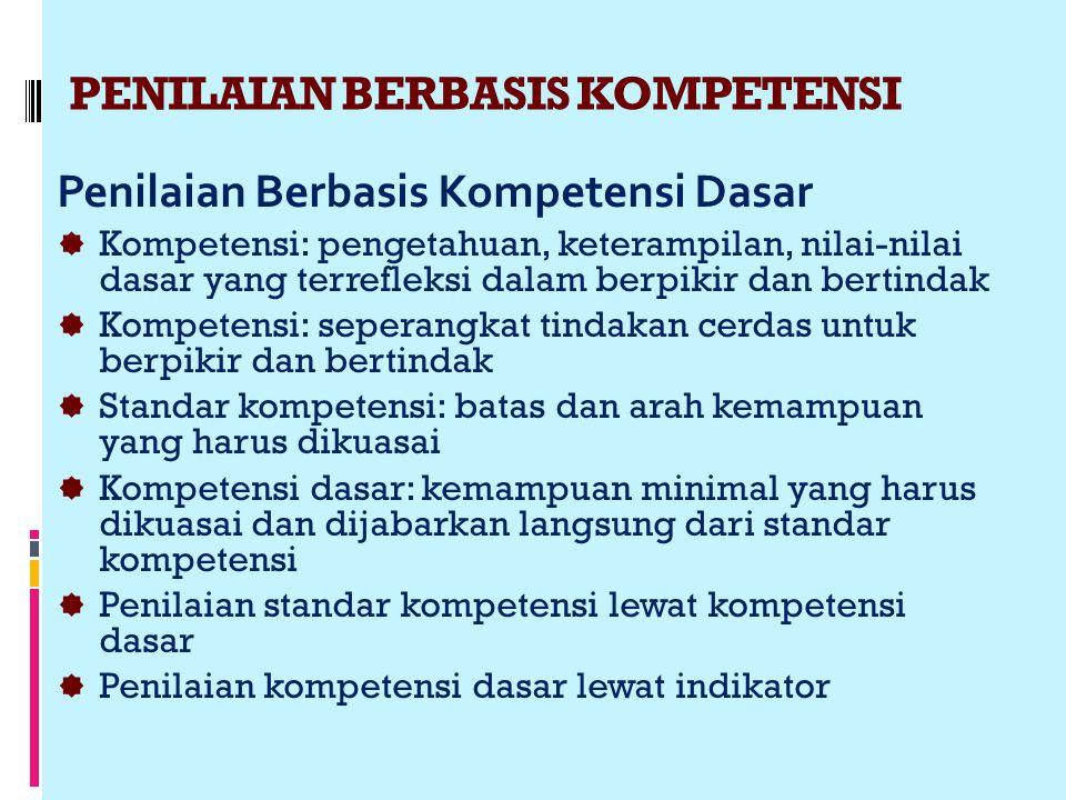 PENILAIAN BERBASIS KOMPETENSI