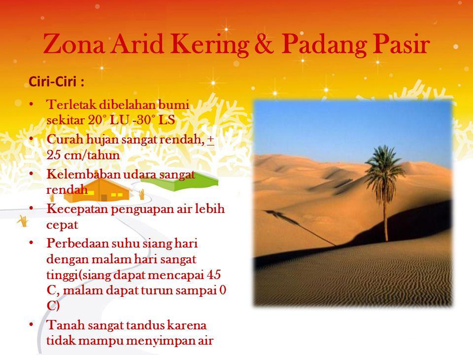 Zona Arid Kering & Padang Pasir