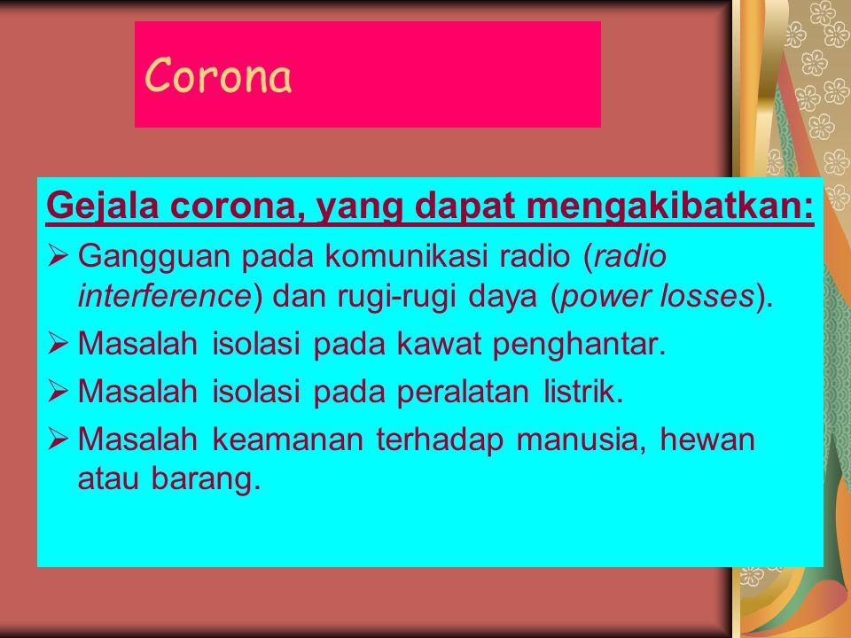 Corona Gejala corona, yang dapat mengakibatkan: