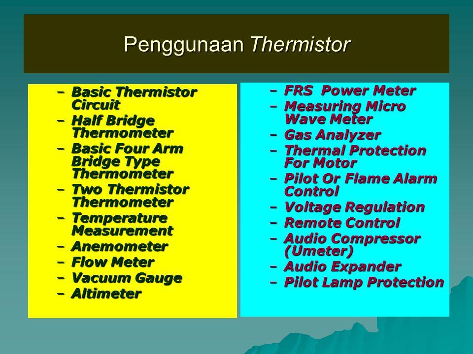Penggunaan Thermistor