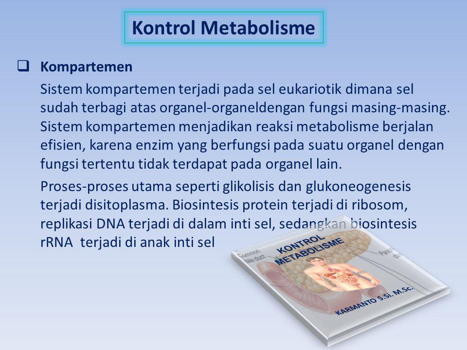 Kontrol Metabolisme Kompartemen