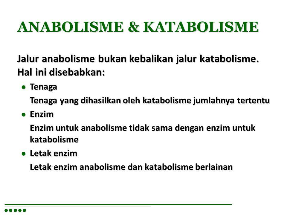 ANABOLISME & KATABOLISME