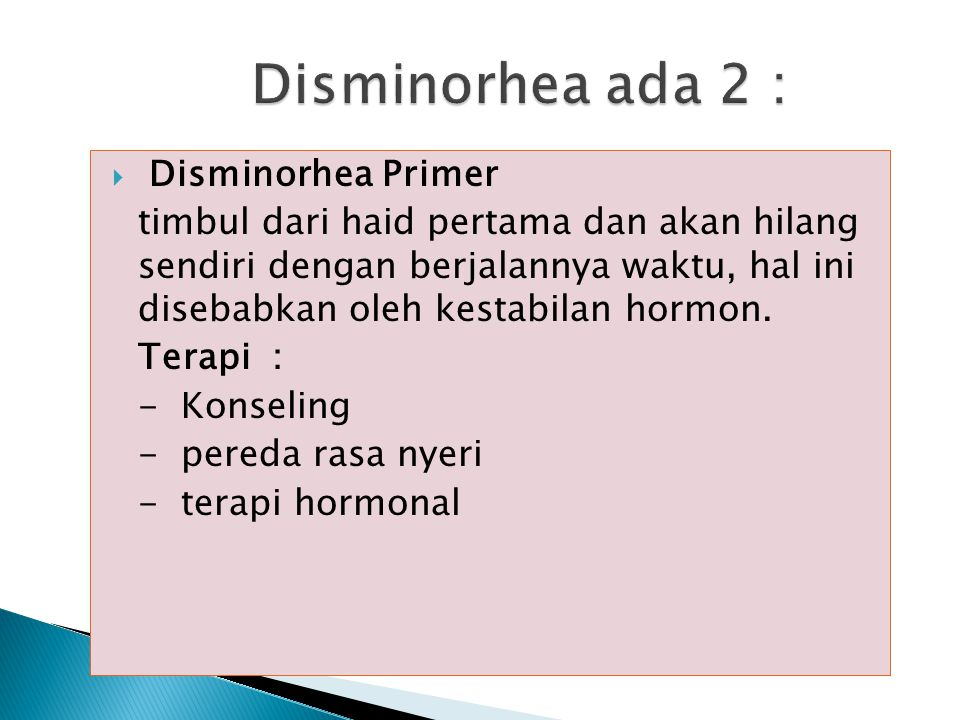 Disminorhea ada 2 : Disminorhea Primer
