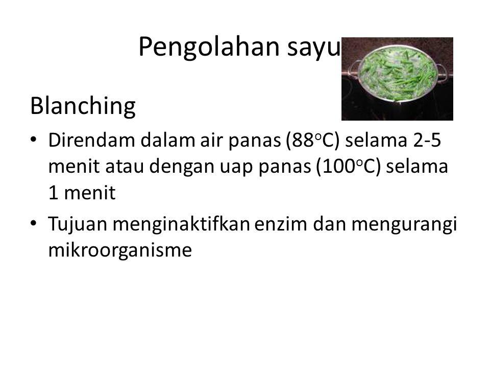 Pengolahan sayur Blanching