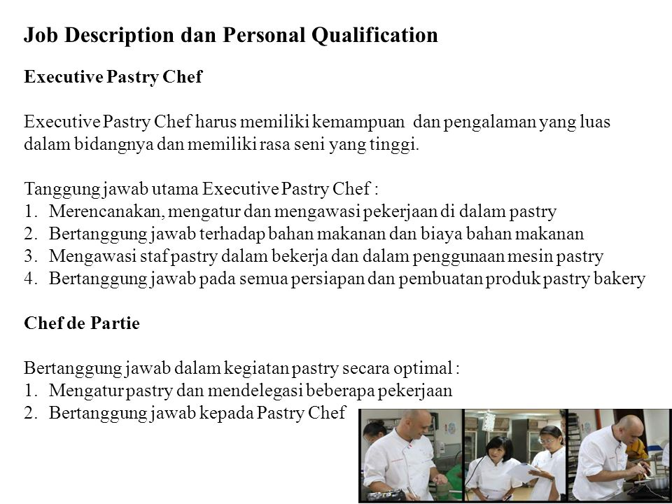 Job Description dan Personal Qualification