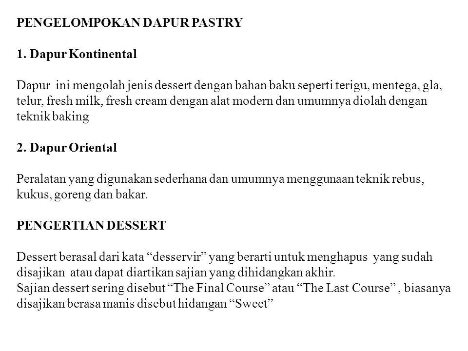 PENGELOMPOKAN DAPUR PASTRY