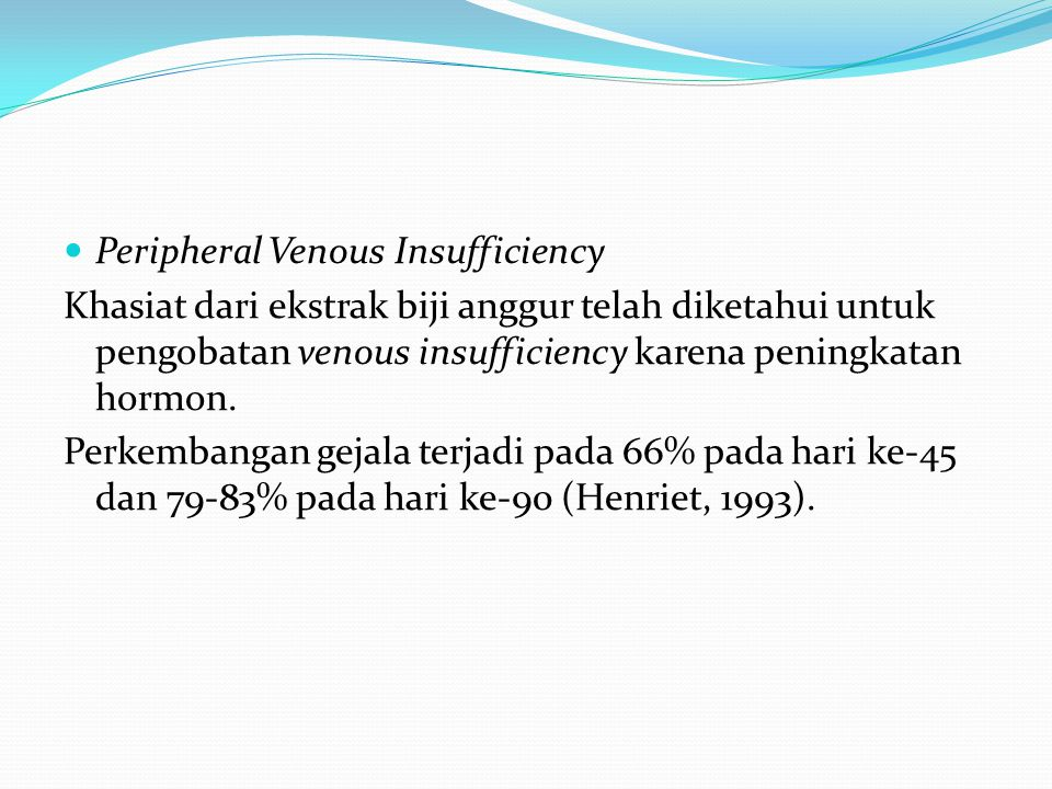 Peripheral Venous Insufficiency