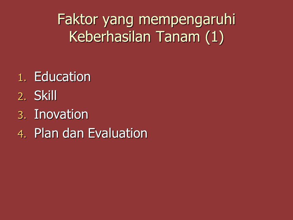 Faktor yang mempengaruhi Keberhasilan Tanam (1)