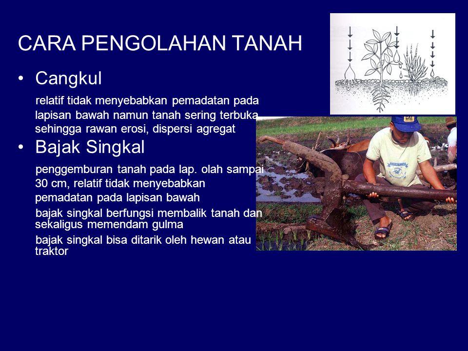 CARA PENGOLAHAN TANAH Cangkul Bajak Singkal