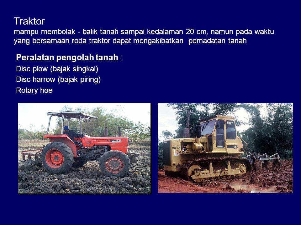 Traktor Peralatan pengolah tanah :