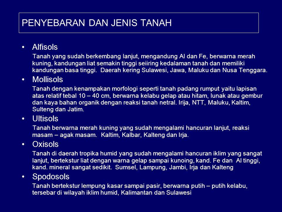 PENYEBARAN DAN JENIS TANAH