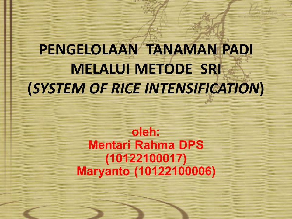 oleh: Mentari Rahma DPS (10122100017) Maryanto (10122100006)