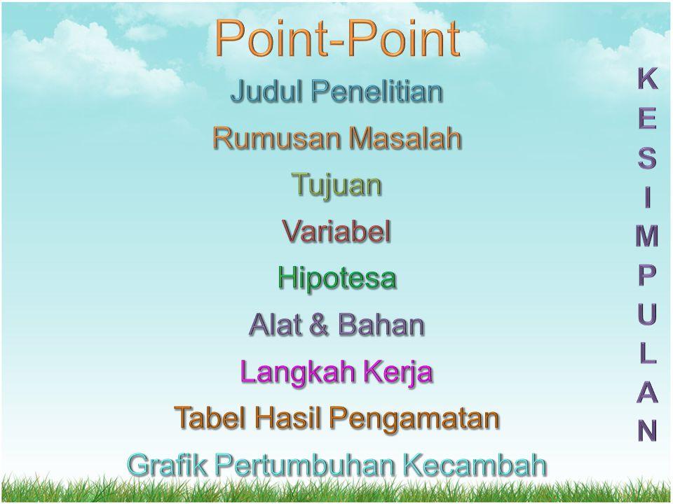 Point-Point KESIMPULAN