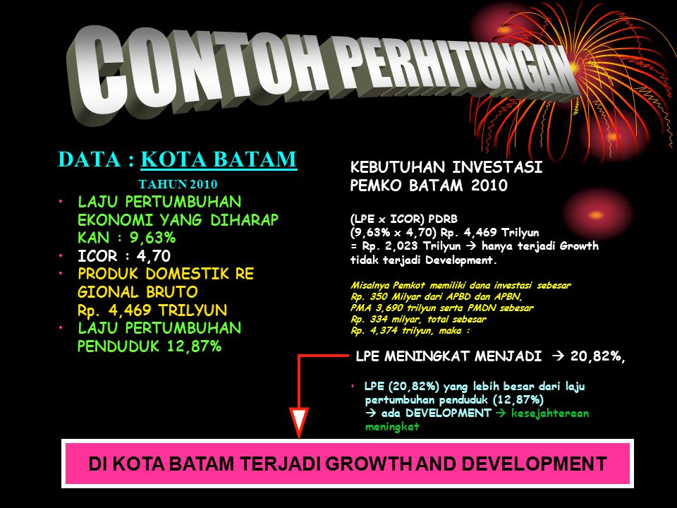 DI KOTA BATAM TERJADI GROWTH AND DEVELOPMENT