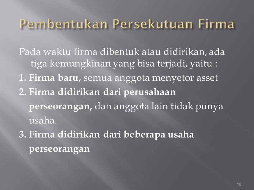 Pembentukan Persekutuan Firma