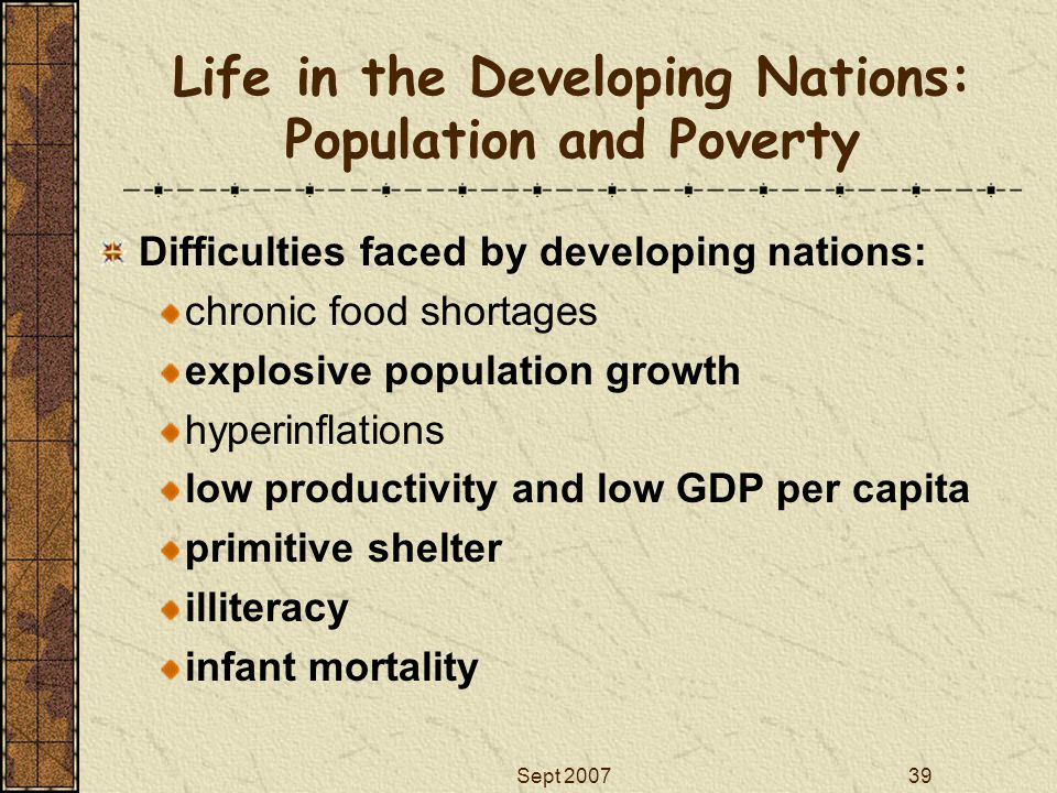 Life in the Developing Nations: Population and Poverty