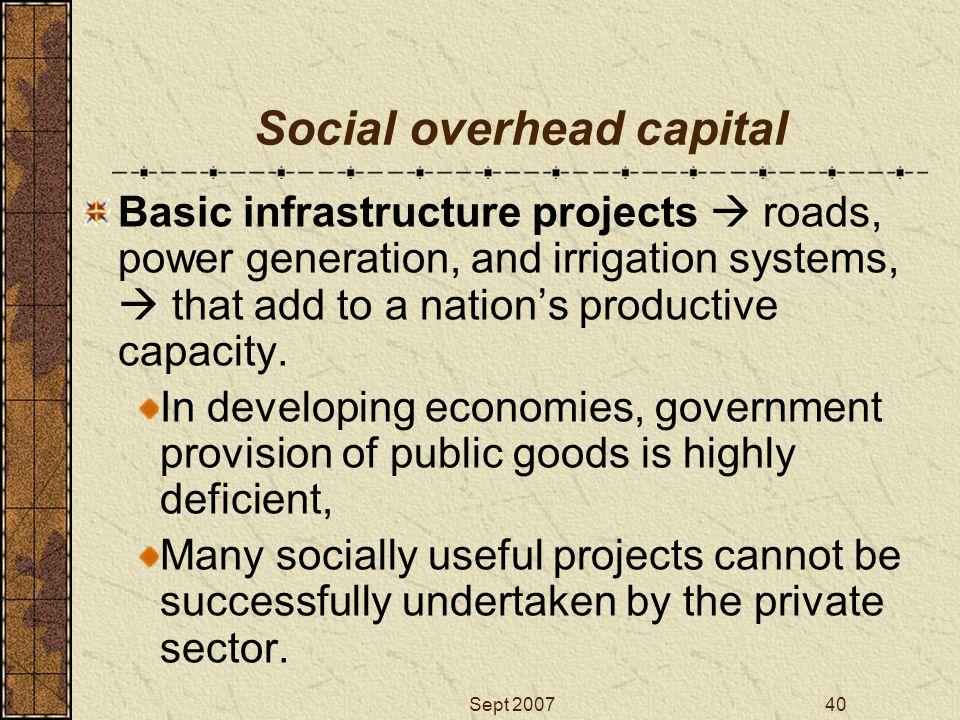 Social overhead capital