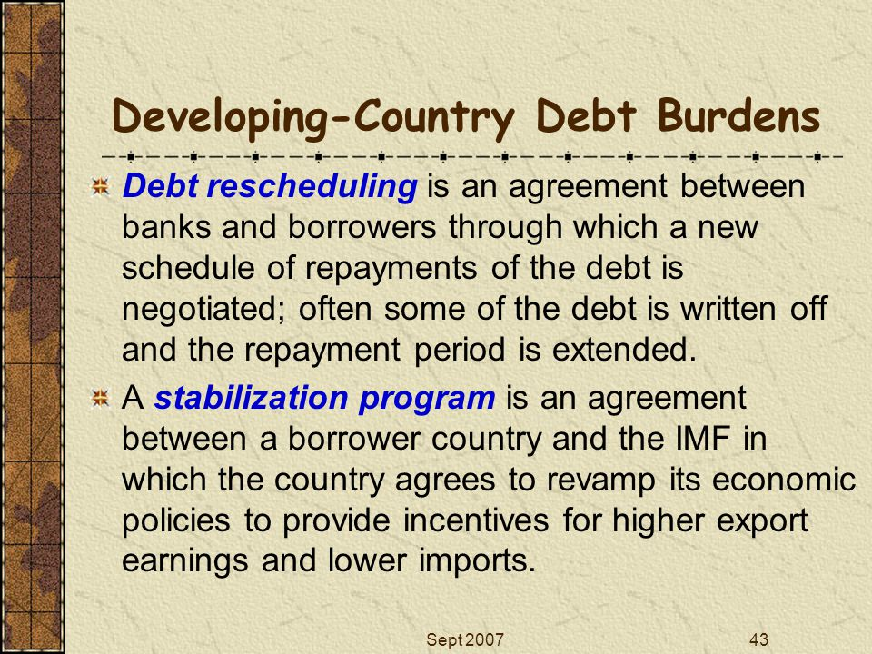 Developing-Country Debt Burdens