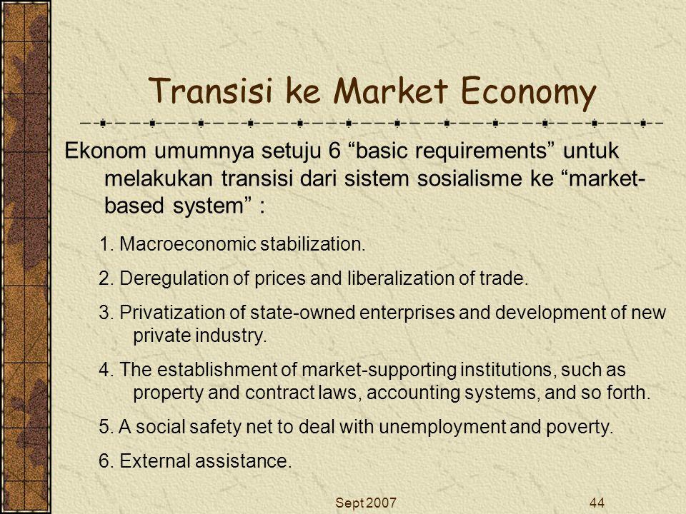 Transisi ke Market Economy