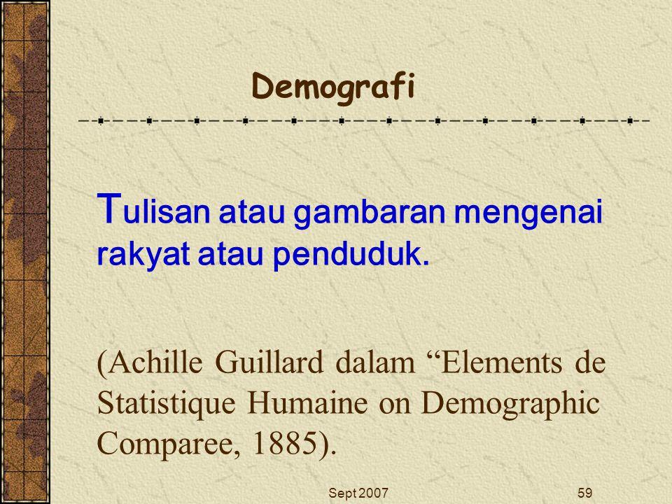 Tulisan atau gambaran mengenai rakyat atau penduduk