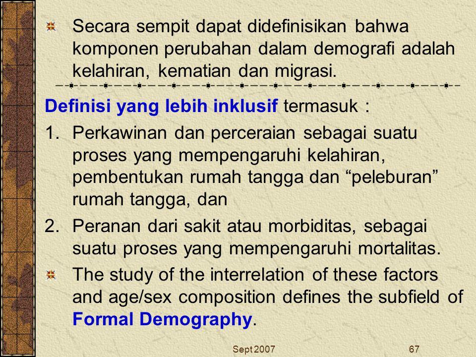 Definisi yang lebih inklusif termasuk :