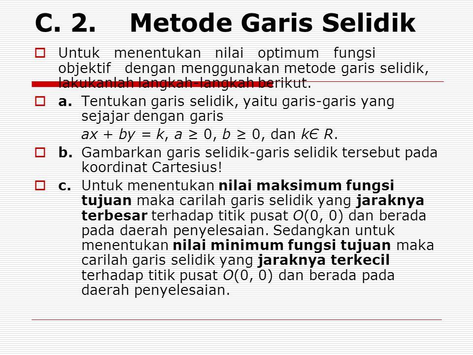 C. 2. Metode Garis Selidik