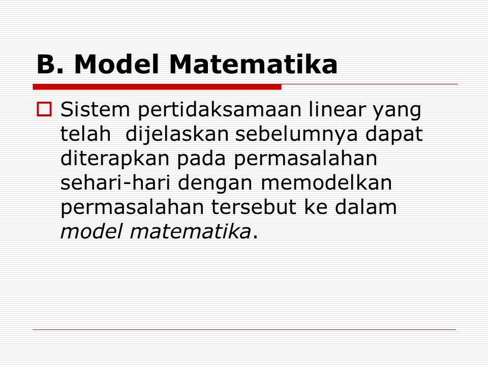 B. Model Matematika