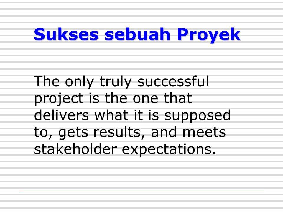 Sukses sebuah Proyek