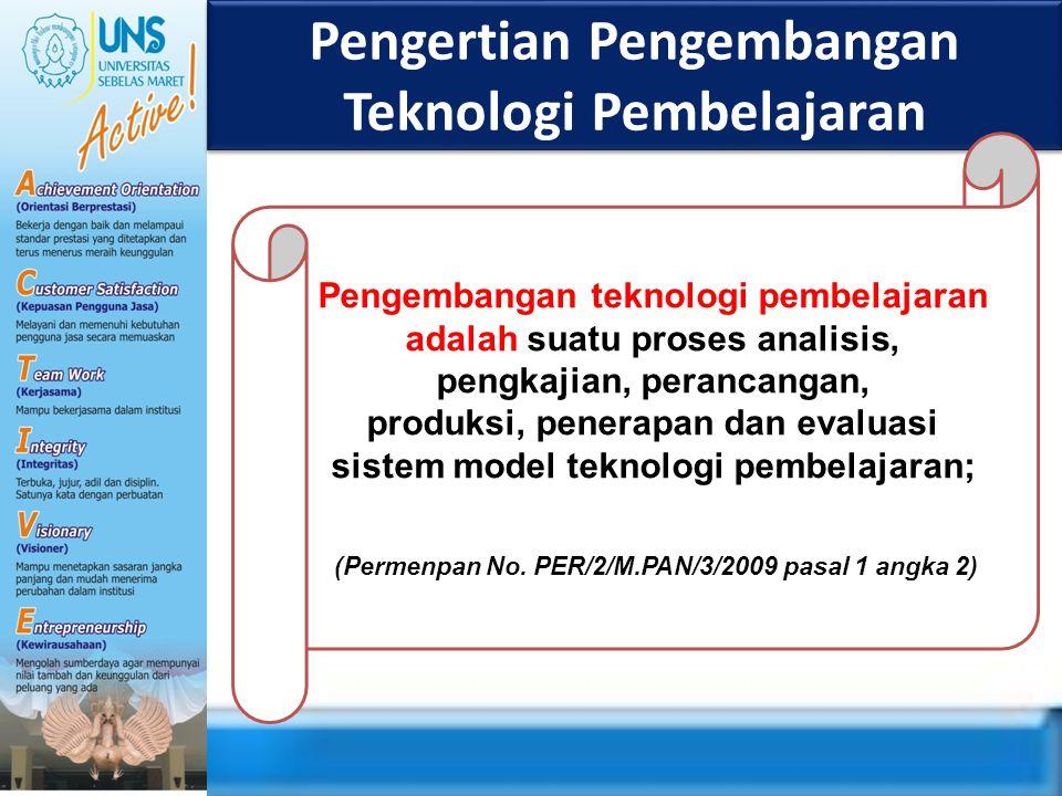 Pengertian Pengembangan Teknologi Pembelajaran