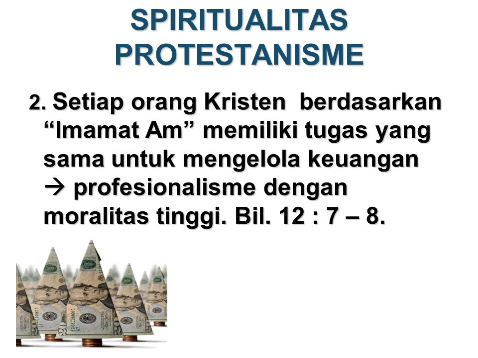 SPIRITUALITAS PROTESTANISME