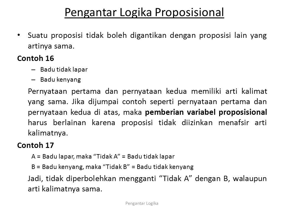 Pengantar Logika Proposisional