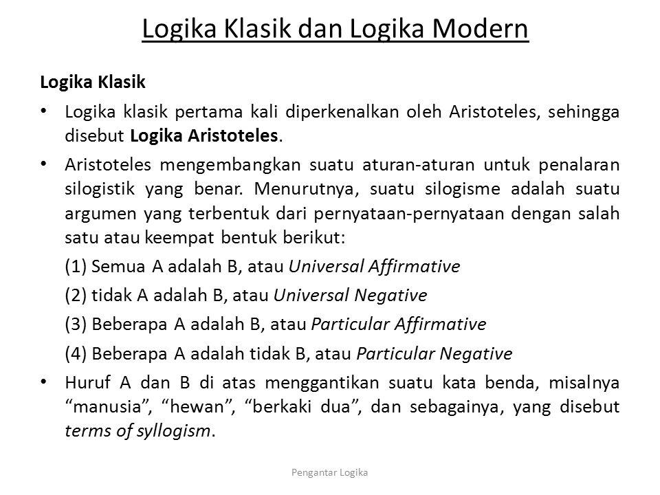 Logika Klasik dan Logika Modern