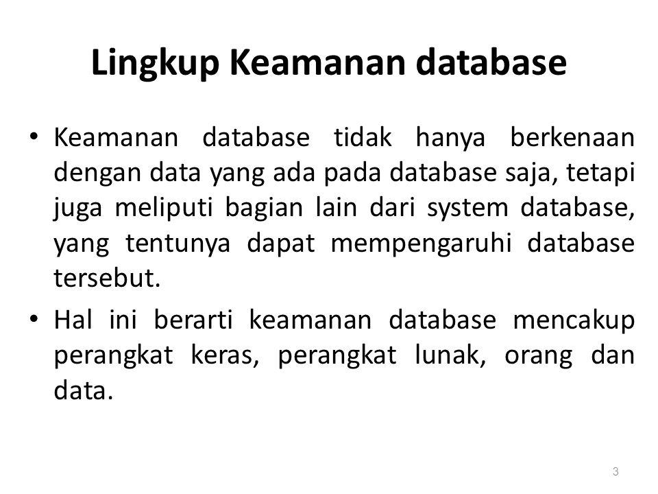 Lingkup Keamanan database