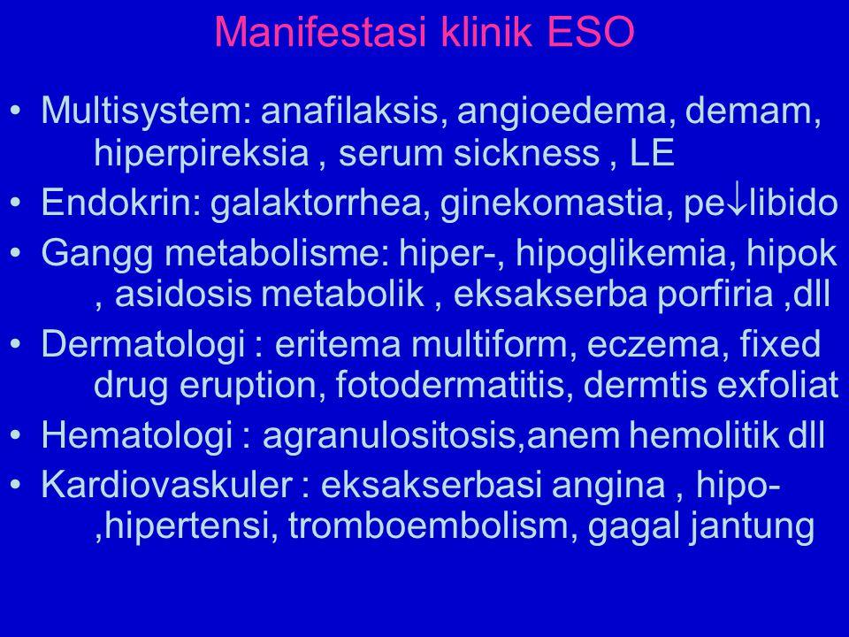 Manifestasi klinik ESO