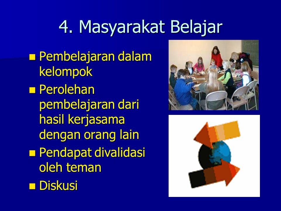 4. Masyarakat Belajar Pembelajaran dalam kelompok
