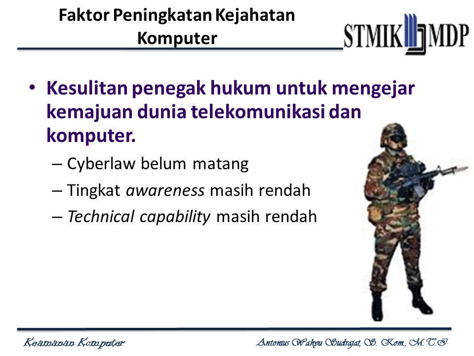 Faktor Peningkatan Kejahatan Komputer
