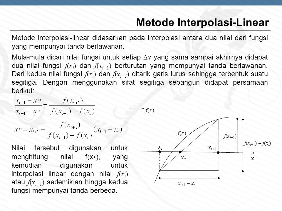 Metode Interpolasi-Linear