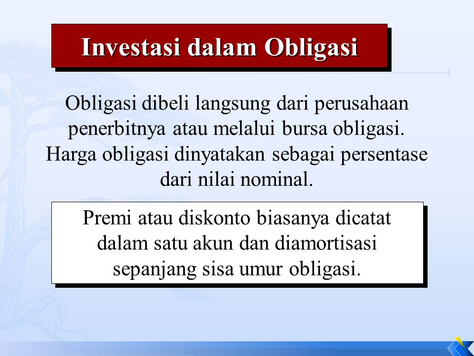 Investasi dalam Obligasi