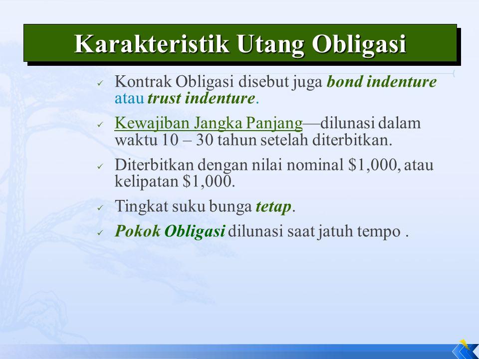 Karakteristik Utang Obligasi