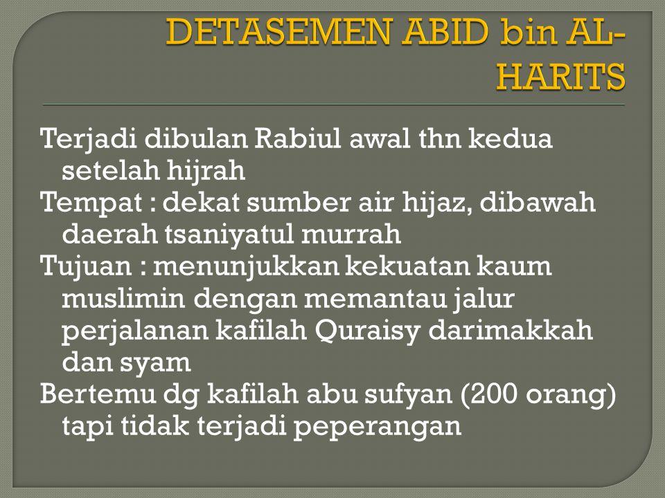 DETASEMEN ABID bin AL-HARITS
